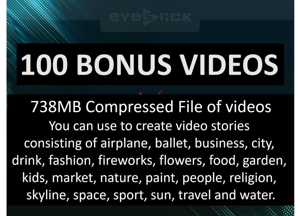 eyeSlick Bonuses 1