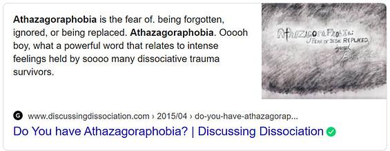Athazagoraphobia 1